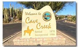 City of Cave Creek, AZ Town Sign
