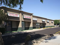 Commercial foam roof repair on strip mall in North Phoenix, AZ