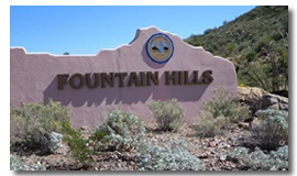 City of Fountain Hills, AZ Town Sign